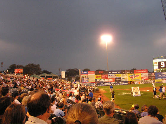 Looking back at the full stands - Trenton NJ